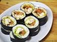 [김밥] 양상추와 두부조림이 들어간 김밥
