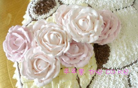 캐릭터케이크 만들기-꽃바구니든 테디베어